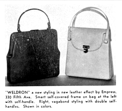Weldron A New Styling In Leather Effect By Empress 330 Fifth Ave Smart Self Covered Frame On Bag At The Left With Handle