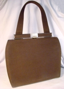 Annette Walnut Brown Faux Suede Handbag